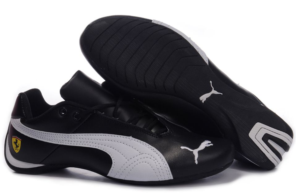 puma speed cat cuir noir